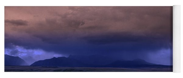 Thunderstorm In The Mountains Yoga Mat