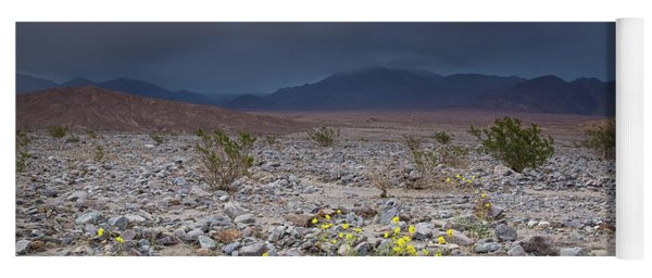 Thunderstorm Over Death Valley National Park Yoga Mat
