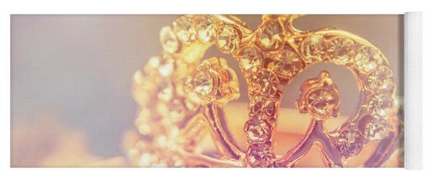 Tiara Crown With Diamonds Yoga Mat