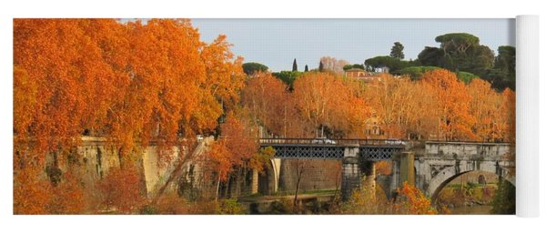 Tiber River In Autumn 2 Yoga Mat