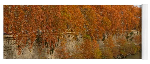 Tiber River In Autumn 3 Yoga Mat