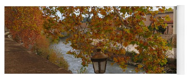 Tiber River In Autumn Yoga Mat