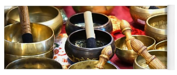 Tibetan Bronze Singing Bowls Yoga Mat