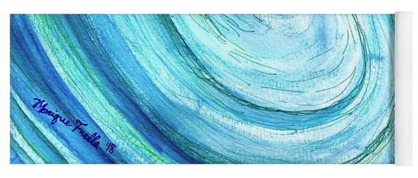 Yoga Mat featuring the painting Tidal by Monique Faella