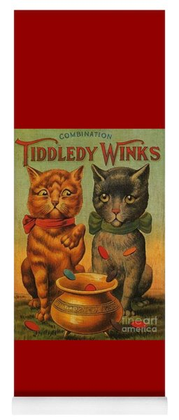 Tiddledy Winks Funny Victorian Cats Yoga Mat