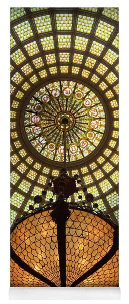 Tiffany Ceiling In The Chicago Cultural Center Yoga Mat