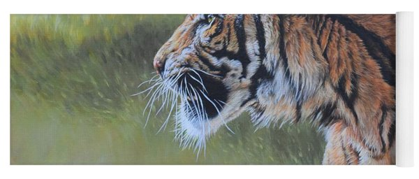 Tiger Portrait Yoga Mat