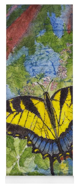 Tiger Swallowtail Watercolor Batik On Rice Paper Yoga Mat