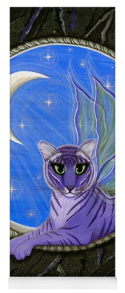 Tigerpixie Purple Tiger Fairy Yoga Mat
