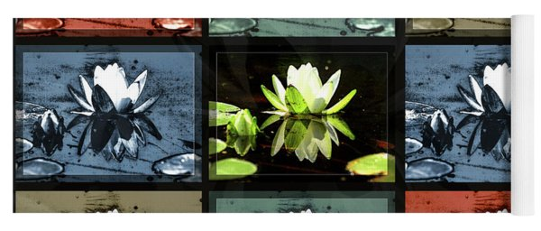 Tiled Water Lillies Yoga Mat
