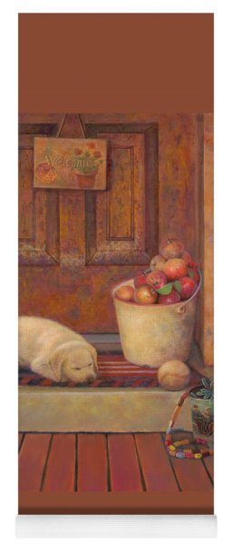 Yoga Mat featuring the painting Till The Kids Come Home by Nancy Lee Moran