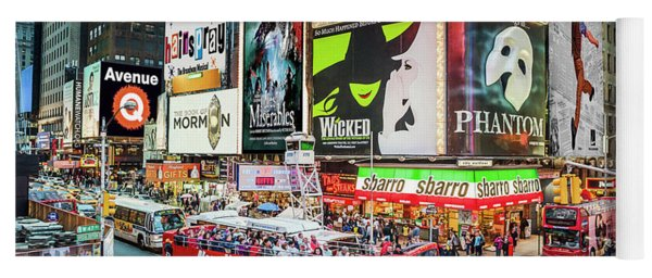 Yoga Mat featuring the photograph Times Square II Special Edition by Ray Warren