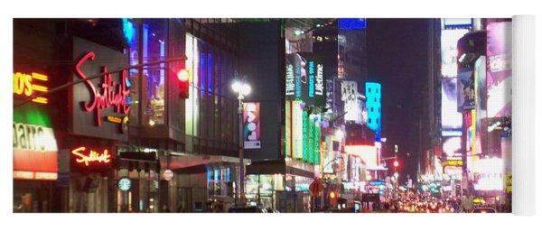 Times Square In The Rain 2 Yoga Mat