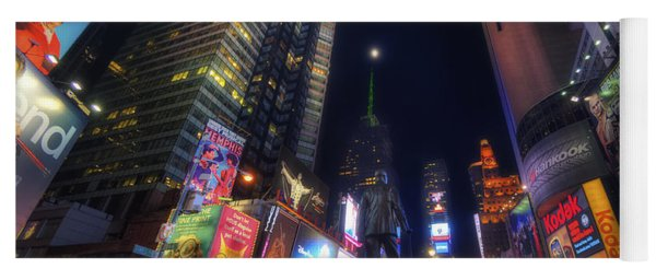 Times Square Moonlight Yoga Mat