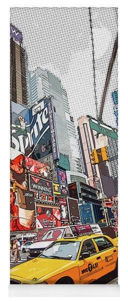 Times Square Pop Art Yoga Mat