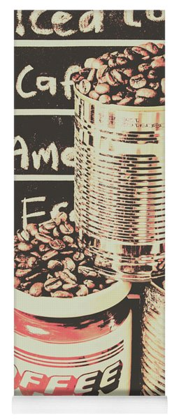 Tin Signs And Coffee Shops Yoga Mat
