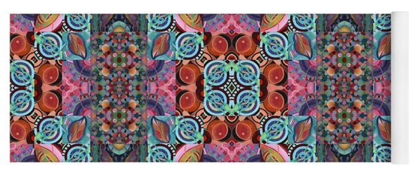 T J O D Mandala Series Puzzle 7 Arrangement 2 Multiplied Yoga Mat