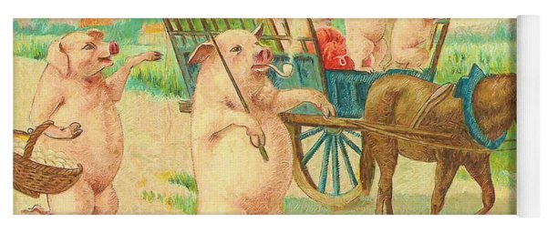 To Market To Market To Buy A Fat Pig 86 - Painting Yoga Mat