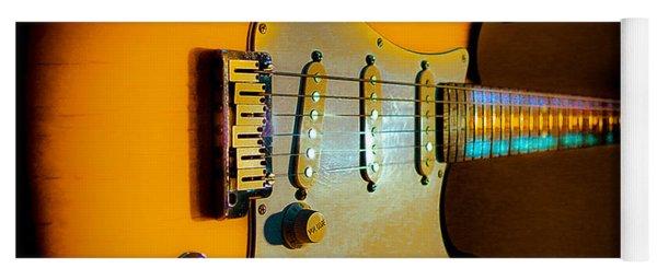 Tobacco Burst Stratocaster Glow Neck Series Yoga Mat