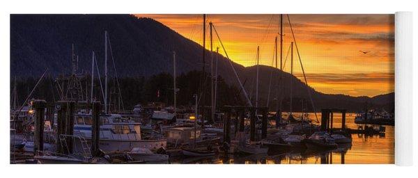 Tofino Docks Sunrise - A Tribute Yoga Mat