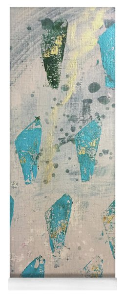 Yoga Mat featuring the painting Tokens by Robin Maria Pedrero