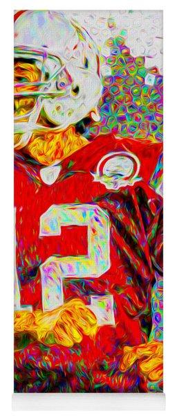 Tom Brady New England Patriots Football Nfl Painting Digitally Yoga Mat