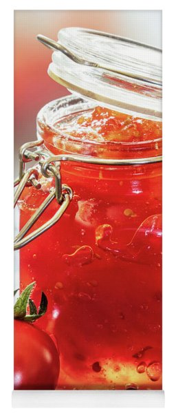 Tomato Jam In Glass Jar Yoga Mat
