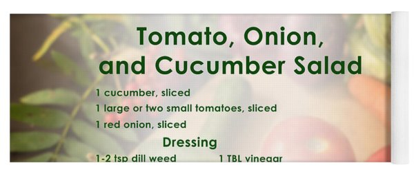Tomato Onion Cucumber Salad Recipe Yoga Mat