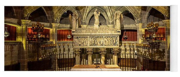 Tomb Of Saint Eulalia In The Crypt Of Barcelona Cathedral Yoga Mat