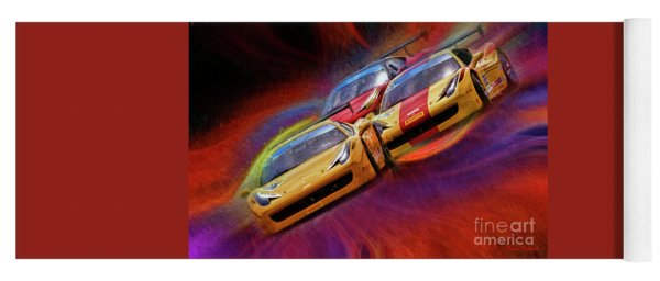 Tony Ferraro Leads Mike Louli And Keith Larson Ferrari Challenge 458 Yoga Mat