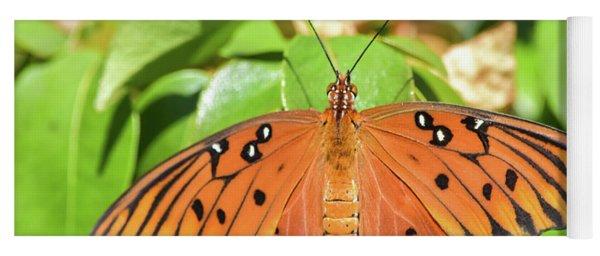 Top Wings Gulf Fritillary Yoga Mat