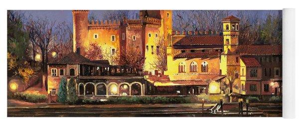 Torino-il Borgo Medioevale Di Notte Yoga Mat