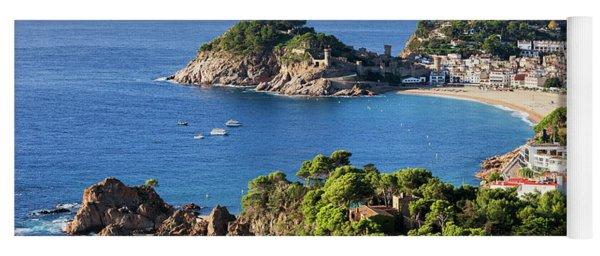 Tossa De Mar Sea Town On Costa Brava In Spain Yoga Mat