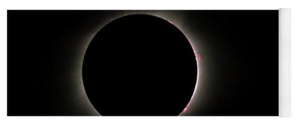 Total Eclipse Solar Flares Yoga Mat
