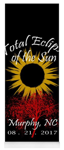 Total Eclipse T-shirt Art Murphy Nc Yoga Mat