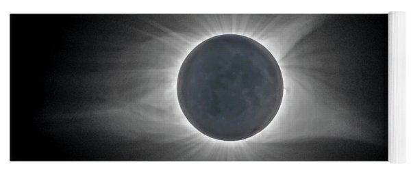 Yoga Mat featuring the photograph Total Solar Eclipse With Corona by Lori Coleman