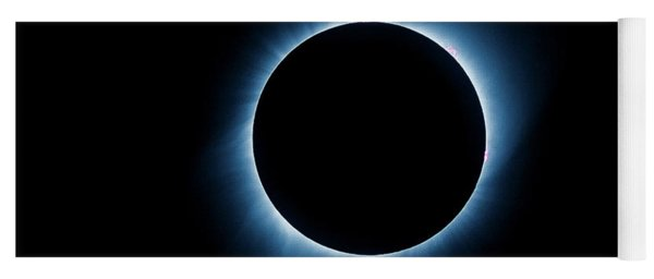 Yoga Mat featuring the photograph Totality by Rikk Flohr