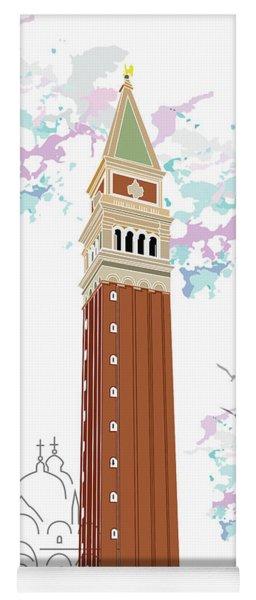 Tower Of Campanile In Venice Yoga Mat