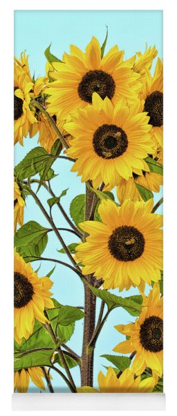 Tower Of Flowers Yoga Mat