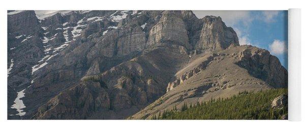 Towering Mount Norquay Banff Yoga Mat