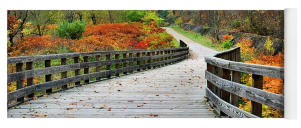 Towpath In Summit County Ohio Yoga Mat