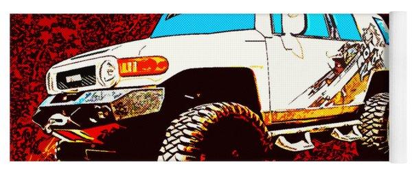 Toyota Fj Cruiser 4x4 Cartoon Panel From Vivachas Yoga Mat