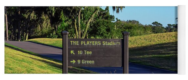 Tpc Sawgrass Sign Yoga Mat