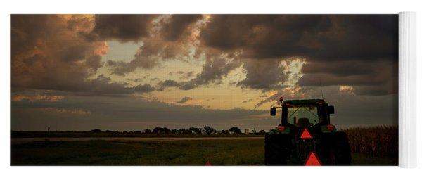 Tractor At Sunrise - Chester Nebraska Yoga Mat