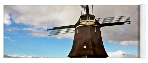 Traditional Dutch Windmill Near Volendam  Yoga Mat