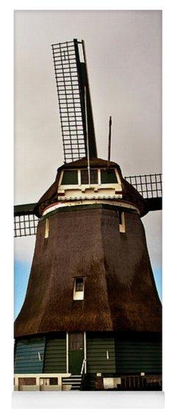Traditional Dutch Windmill Near Volendam  Yoga Mat