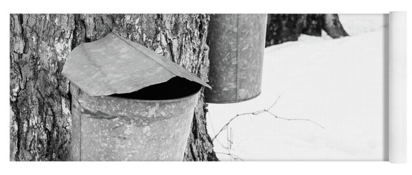 Traditional Maple Sap Collection Galvanized Buckets Vermont Yoga Mat