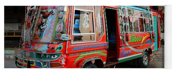 Traditionally Decorated Pakistani Bus Art Karachi Pakistan Yoga Mat