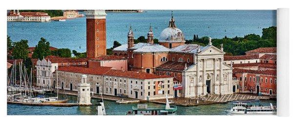 Traffic Around The Venetian Church Yoga Mat