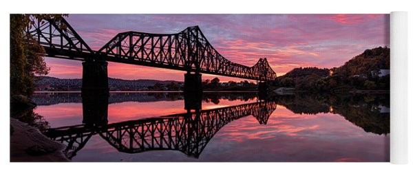 Train Bridge At Sunrise  Yoga Mat